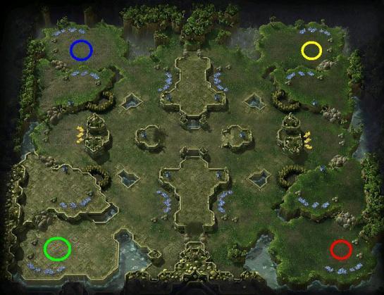 Puntos de salida en el mapa Kulas Ravine
