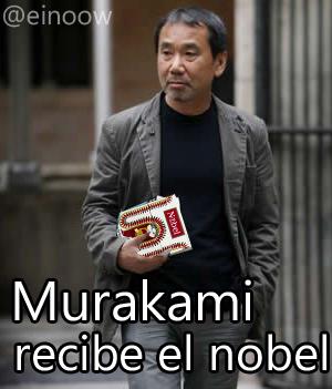 murakami recibe el nobel